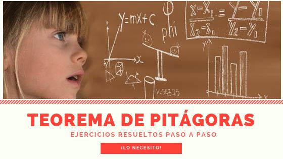 Ejercicios resueltos del teorema de Pitágoras