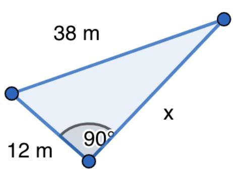 SM Savia Tema 13 - Ejercicio 61a - Teorema de Pitágoras