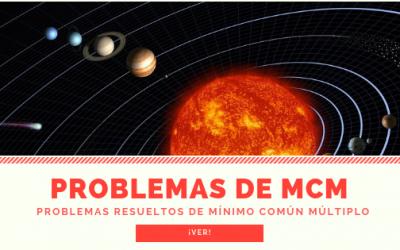 Problemas de mcm (mínimo común múltiplo)