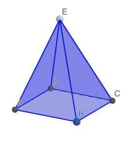Pirámide regular cuadrangular - Ejercicios resueltos de área y volumen de pirámides
